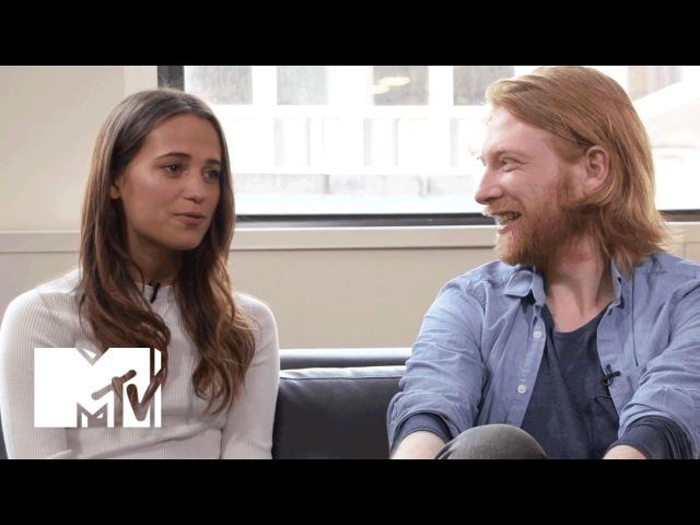 'Ex Machina' Star Alicia Vikander On Oscar Isaac's Dance Moves MTV News