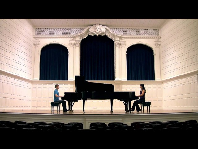 Mozart's SONATA for TWO PIANOS - Anderson Roe
