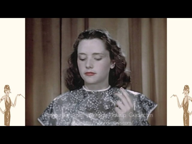 Vintage 1940s Makeup Tutorial Film - 1946