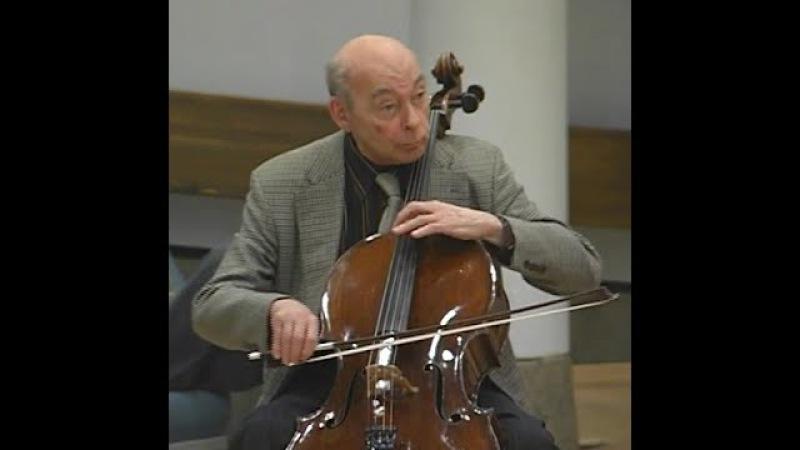 Janos Starker teaches Haydn D Major Concerto
