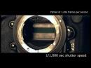 Slow motion camera shutter - Nikon D3s (1,454 fps)