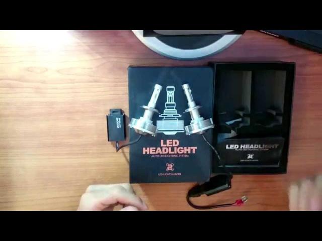 Крутые Светло Диодные Лампочки 2-рова Поколение H1 H3 H7 H8 H9 H10 H11 9005 9006 HB3 HB4 9145 XX14