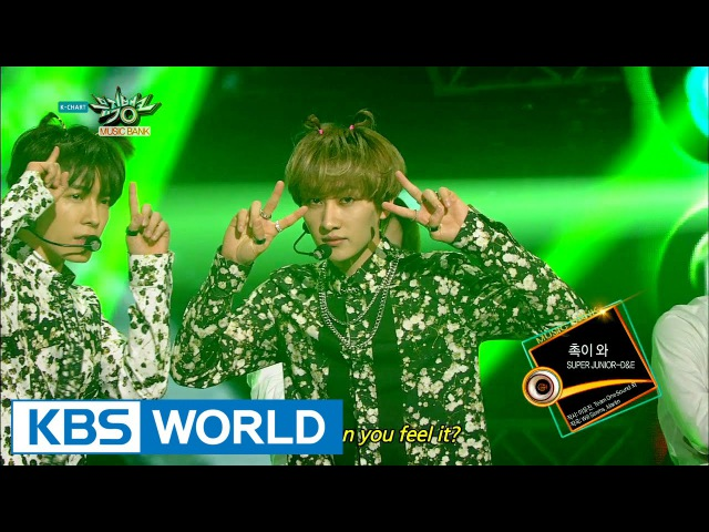 SUPER JUNIOR - DE - Can You Feel It? (촉이 와) [Music Bank HOT Stage / 2015.03.27]