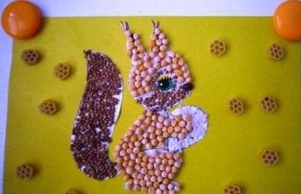 Поделки из макарон и крупы для детей