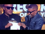 Historic Stevie Wonder and Jamie Foxx as Ray Charles announcing the Record of the Year 2015