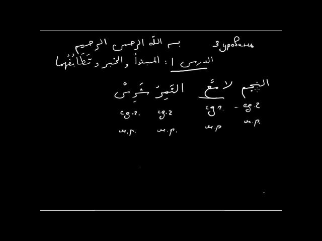 Арабский язык 3 ур Урок 1 المبتدء و الخبر و تطابقهما
