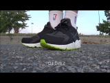 Nike Air Huarache Black Venom Green Shoe On Foot Review + Sizing Info With Dj Delz