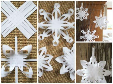 Делаем красивые снежинки своими руками фото
