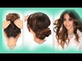 3 EASY HAIRSTYLES   SCHOOL Braids + Curls +  Messy Bun  Hairstyle