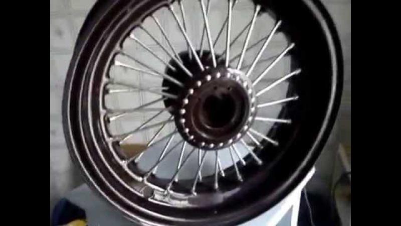 Спицевание автомобильного колеса