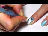 NAIL ART - Как нарисовать СНЕГОВИКА