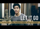 Let It Go (Frozen) - 4 Languages [Thai, Japanese, English, Chinese] - Male Cover by Nat Sakdatorn