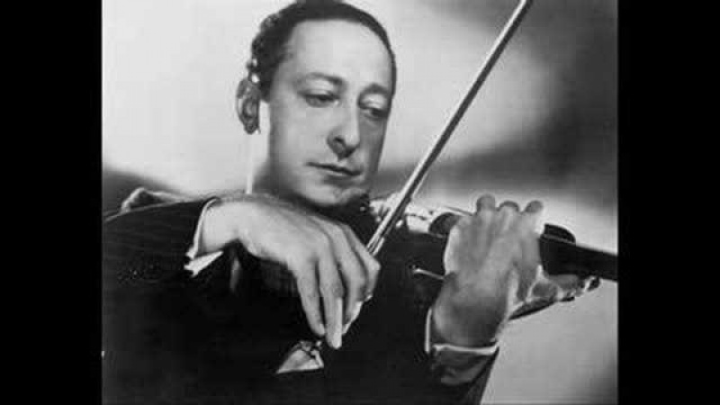 Heifetz - Vitali `Chaconne` with organ