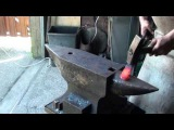 How to forge a hot chisel with a wooden handle. (part 2 of 4)
