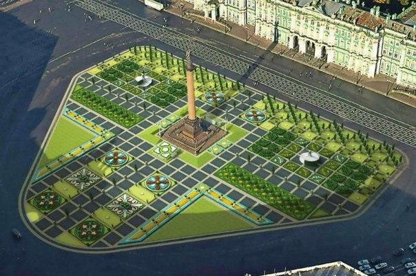 Летом на Дворцовой площади