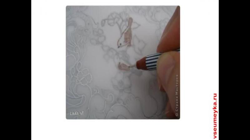 как создать открытку в технике пергамано