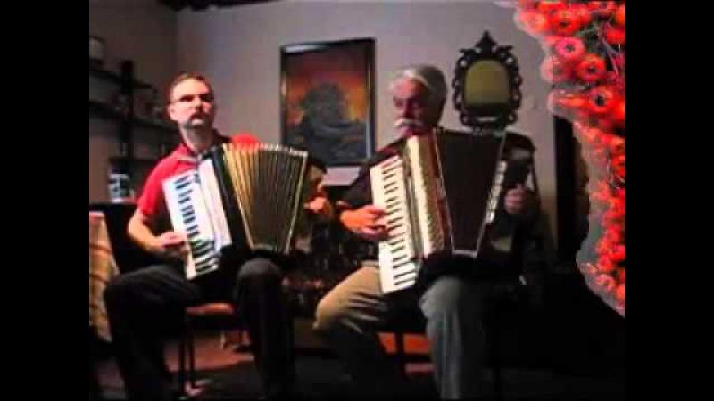 CZERWONE JAGODY old Polish folk song accordion duet