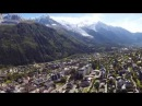 France, Chamonix, Alps, Mont Blanc, DJI Phantom 2 Footage. Франция, Альпы, гора МонБлан с вертолета