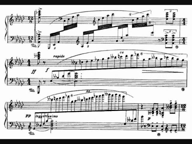 Respighi Notturno for piano 1904 with score