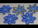 Вязание ЦВЕТКА крючком.Урок ирландского кружева.Lesson Irish lace knitting.