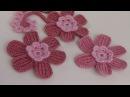 Вязание ЦВЕТКА . Урок вязания крючком. Тунисское вязание.Crochet flower.