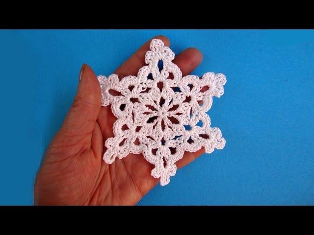 How to crochet snowflake - Снежинка - Pattern for free - Вязание крючком
