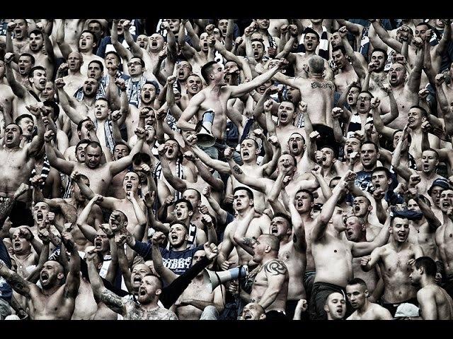 Legia Warszawa - LECH POZNAŃ (9.05.2015) kibole Lecha w Warszawie