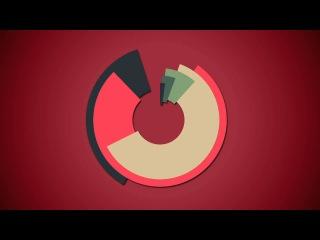 Образец 2D графики Motion Graphics