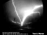 Upward Lightning in Rapid City, South Dakota