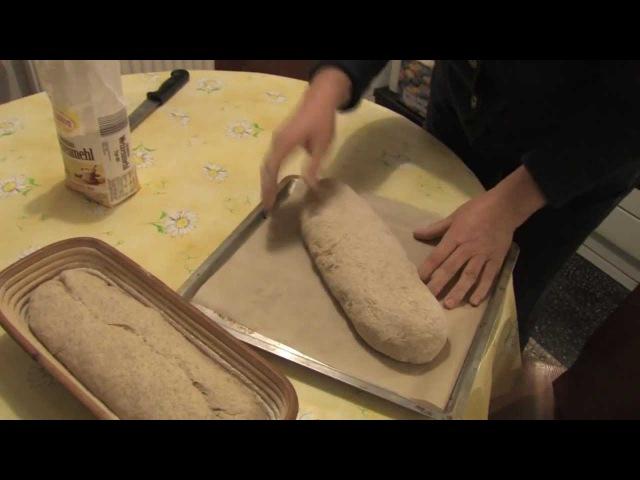 Roggen- Weizenmischbrot mit Hefe selber backen