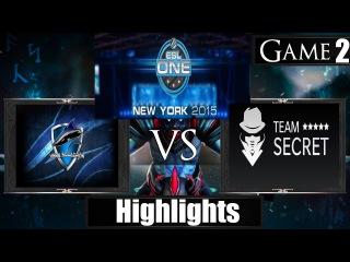 Dota 2 reborn 6 85 Team Secret vs Vega Squadron Game 2 Highlights ESL One New York 2015