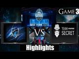 Dota 2 reborn 6 85 Team Secret vs Vega Squadron Game 3 Highlights ESL One New York 2015