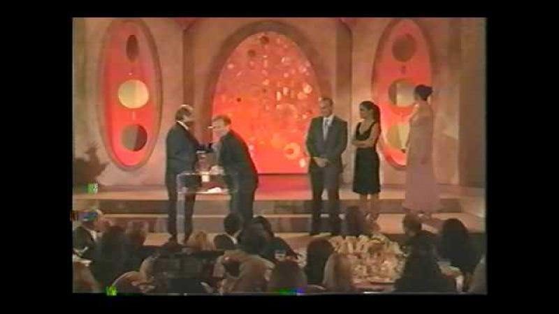 Daniel Day Lewis, Jack Nicholson (Robin Williams) Accepting Critics Choice Award