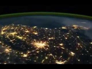 Северное сияние  Вид с орбитальной станции