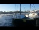 Storm at yachtclub Шторм в яхт клубе.