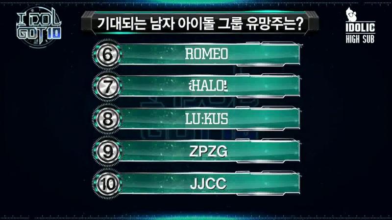 [HIGH SUB] IDOL GOT 10 Weekly Idol Ranking Show EP 03 (рус. саб)