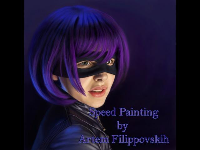 Hit Girl - Speed Painting by Artem Filippovskih