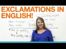 Exclamations in English