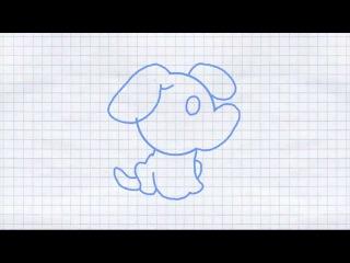 How to draw a puppy (dog) / Как нарисовать щенка (собаку)