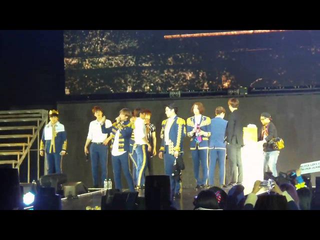 150207 Super Junior - Ending Talk SuperShow6 in Shanghai [Fancam]