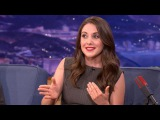 Alison Brie Attended A Nudist College - CONAN on TBS