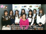 [2014.12.16] The Show warming up interview with Lovelyz [рус.саб]