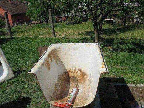 Печь из старой ванны своими руками