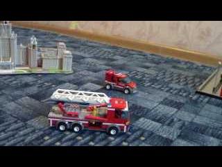 Первый Серёжкин мультик «Лего», про пожарных