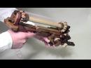 木の回転式6連発ゴム銃2012 試作 WOODEN SIX SHOOTER RUBBER BAND GUN Prototype
