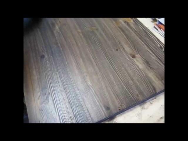 Покрытие мебельного щита маслом