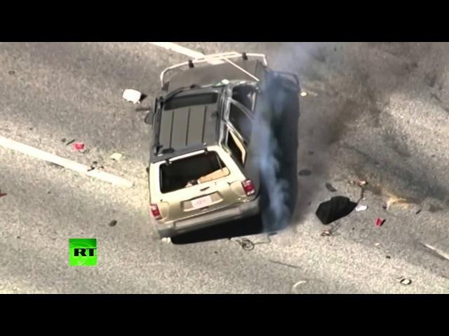 В США полицейская погоня закончилась аварией