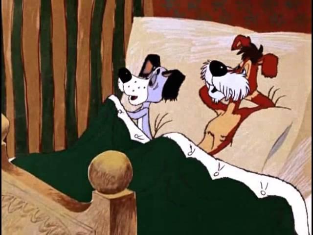 А, дедушка где спит Там, в прихожей, на коврике!