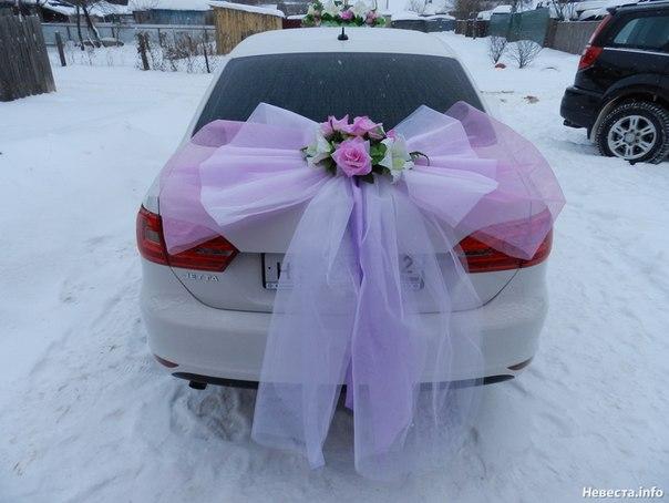 Фото как сделать банты на свадебную машину