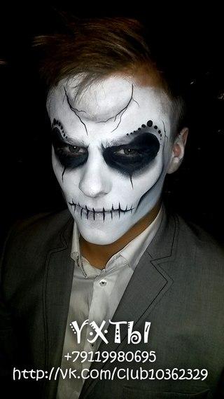 Как сделать рисунок на лице вампира на хэллоуин